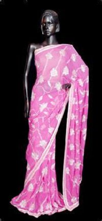 Sequence Work Georgette Saree