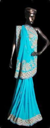 Ari & Stone work Georgette Saree