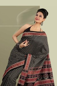 Casual Wear Black Saree