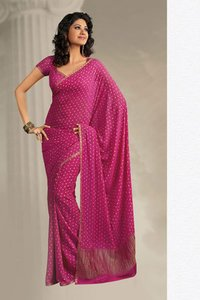 Simple Pink Saree