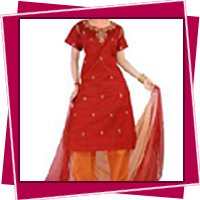 Red Color Ladies Suits