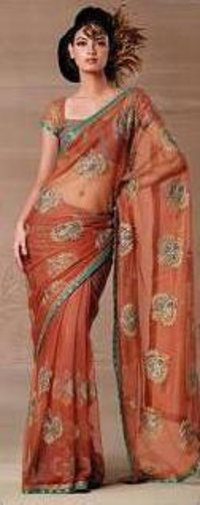 BEAUTIFUL BUTTI WORK SAREE