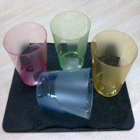 Coloured Transparent Disposable Glasses (200ml - 250ml)