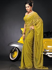 Yellow Color Silk Sarees