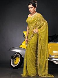 Yellow Color Silk Sarees