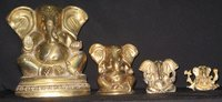 BRASS GANESH SITTING BIG EARS