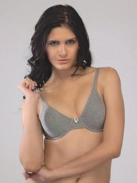 Underwire Cotton Molded Milange Bra