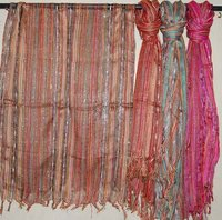 Silk Stripy Scarf