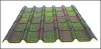 Shaded Green Corrugated Tiles
