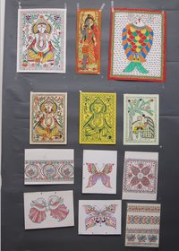 MITHILA PAINTINGS ON HANDMADE PAPER