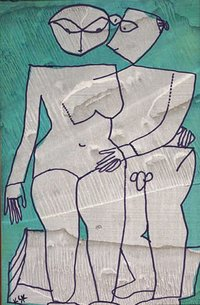 Lovers Acrylic on Canvas Paintings