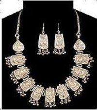 Antique Sterling Silver Necklace Set