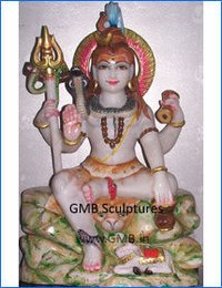 Lord Shiva Seated Statue