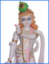 Beautiful Marble Krishna Statue