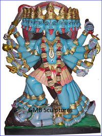 Ten Faced Exquisite Kaali Maa Statue