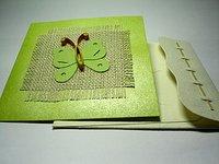 Designer Butterfly Handmade Greeting Card