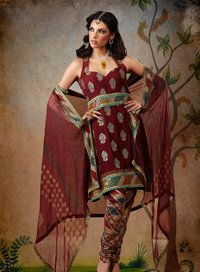 Sleeveless Salwar Suit
