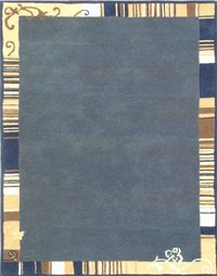 Blue Colour Hand Tufted Carpets
