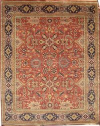 Rust Colour Handmade Carpets