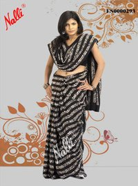 Black Color Creap Silk Saree