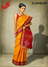 Yellow Color Kanchipuram Silk Saree