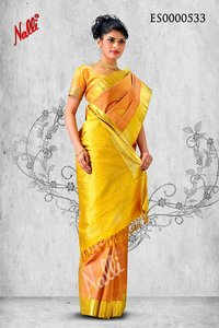 Onion Pink Coloured Kanchipuram Silk Saree