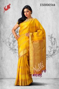 Yellow Coloured Kanchipuram Silk Saree