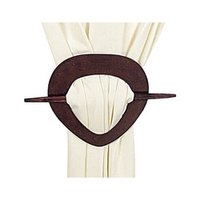 Heart Rose Wooden Curtain Holder