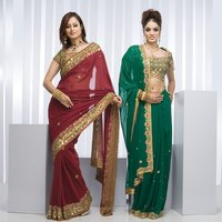 Womens Embroidered Bridal Sarees