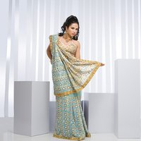 Blue Colour Georgette Saree