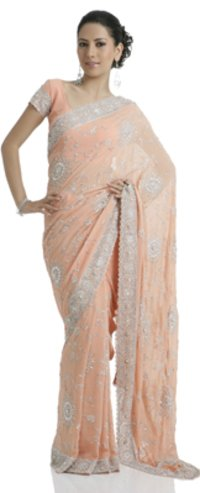 Pure Georgette Pink Sarees