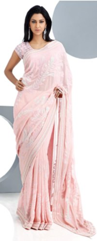 Pink Colour Party Wear Sarees