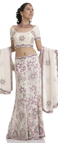 Fully Embroidered Ladies Lahenga