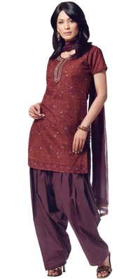 Rust Brown Colour Ladies Suits
