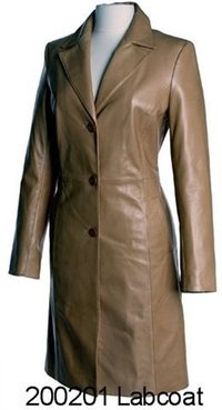 Leather Ladies Lab Coat