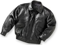 Genuine Leather Bomber Jacket