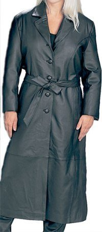Genuine Leather Ladies Long Coat