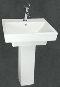 Rectangle Shape Wash Basins With Pedestal