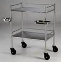 Instrument Trolley With SS Bowl & Tray