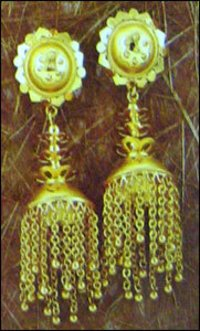 Fancy Gold Ladies Jhumkis