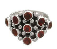 Gemstone Studded Silver Rings