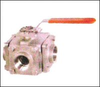 Investment Casting Three Way Ball Valve