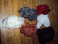 Garnetted Dyed Hard Waste