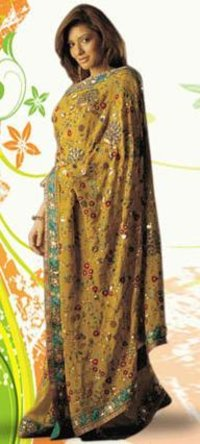 Heavy Hand Embroidered Sarees