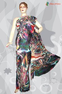 Party Wear Digital Printed Sarees