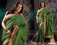 Beautiful Designed Saree With Brocade Border