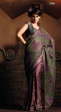 Beautiful Designed Saree With Contrast Pallu