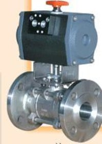 Pneumatic Actuator Operated Investment Casting Flanged Ball Valve
