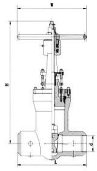 Pressure Seal Bonnet Gate Valves