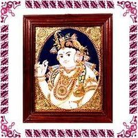 Tanjore Paintings - Butter Krishna